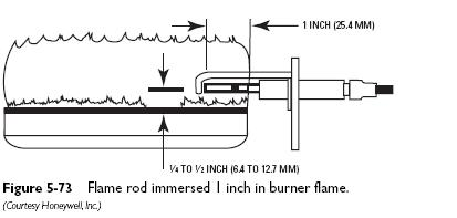 flame rod immersed Igniters