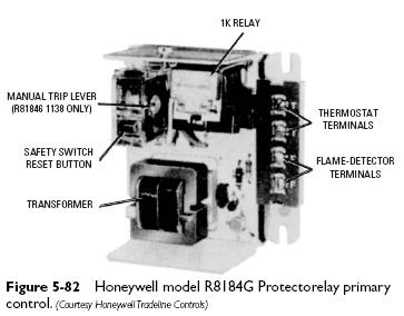 honeywell R8184G Cadmium Cell Primary Controls