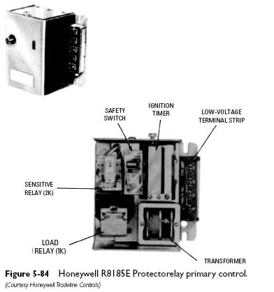 honeywell R8185E Cadmium Cell Primary Controls