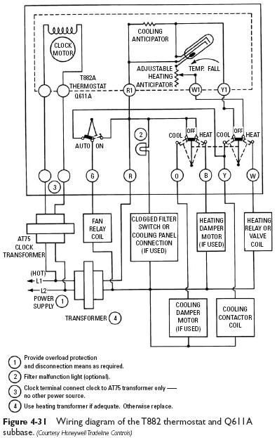 honeywell 6000 thermostat wiring diagram