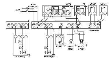 Fully pumped system with two motorized zone valves danfoss bem 4000 boiler energy manager heater service danfoss 3 port valve wiring diagram at panicattacktreatment.co